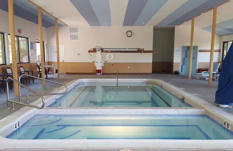 Indoor pool at Carson Hot Springs Spa and Golf Resort.