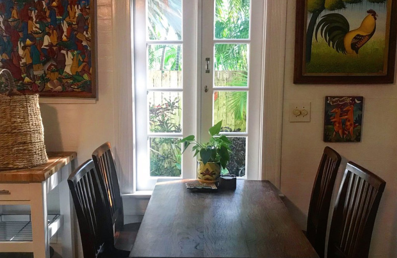 Dining room at Key West Bed & Breakfast.