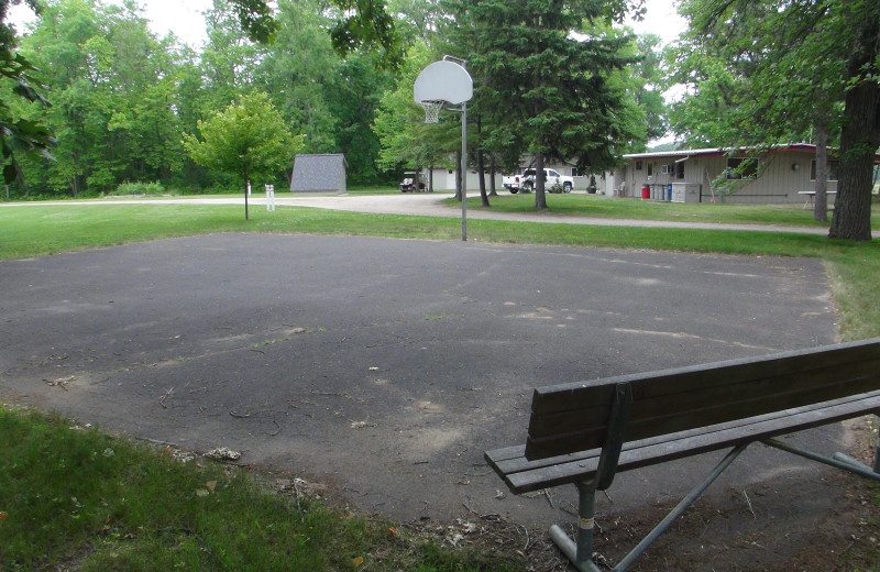 Basketball court at Gull Lake Resort.