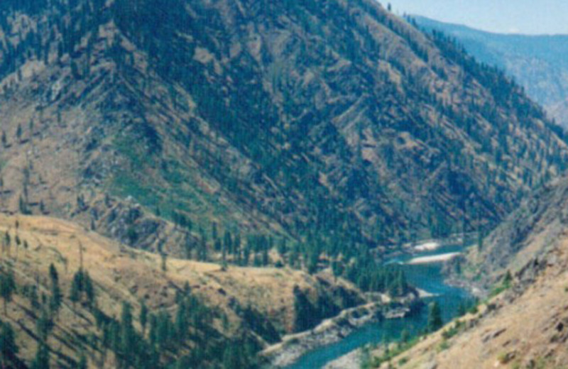 Aerial of Hell's Canyon near Hells Canyon Jet Boat Trips
