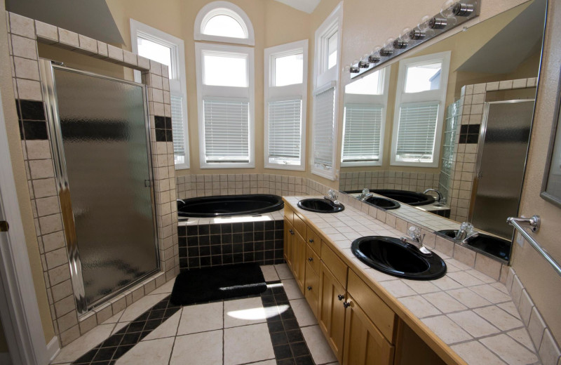 Rental bathroom at Beach Realty & Construction.