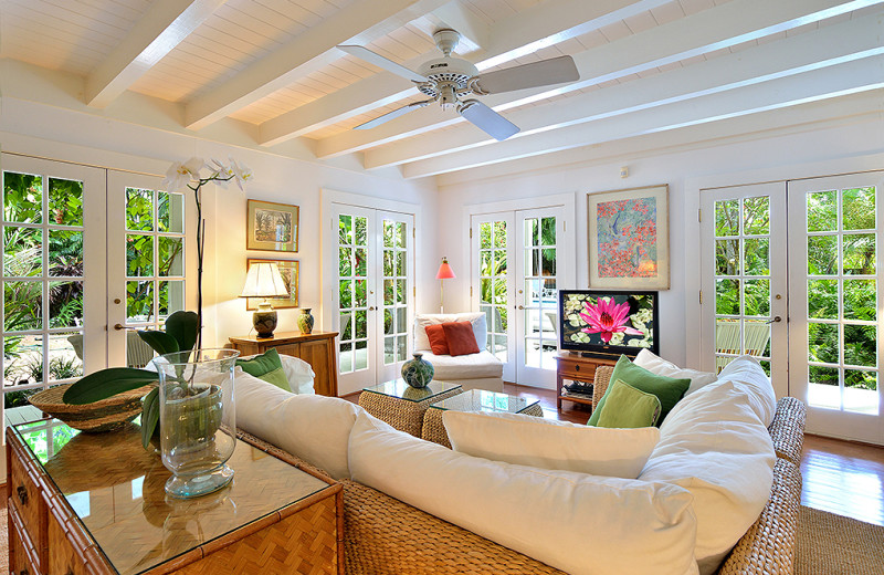 Rental living room at Rent Key West Vacations.
