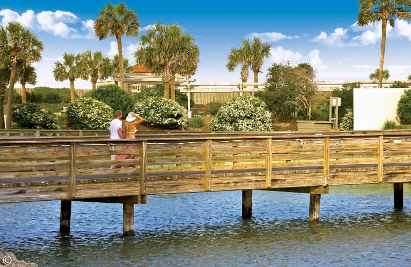 Dock at Ocean Creek Resort.