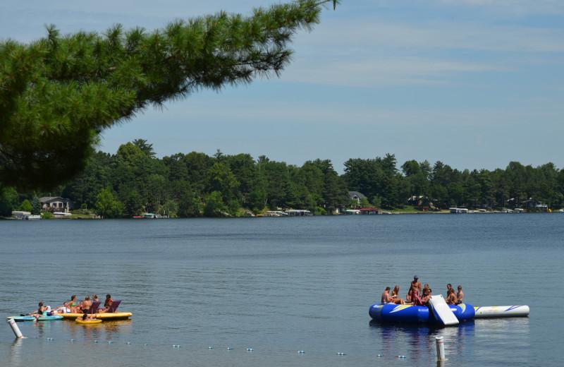 Lake view at Bay View Lodge.