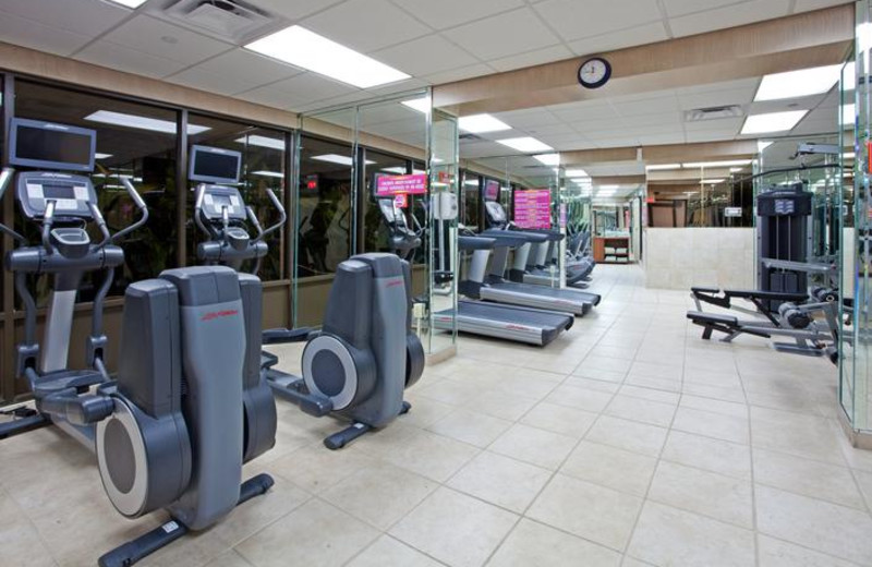 Fitness center at Holiday Inn Resort.