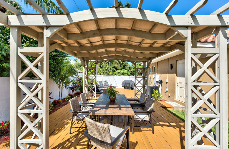 Patio at a Naples Florida Vacation Homes.