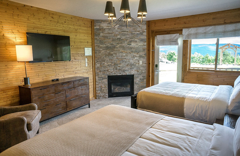 Guest room at Bristol Harbour Resort on Canandaigua Lake.
