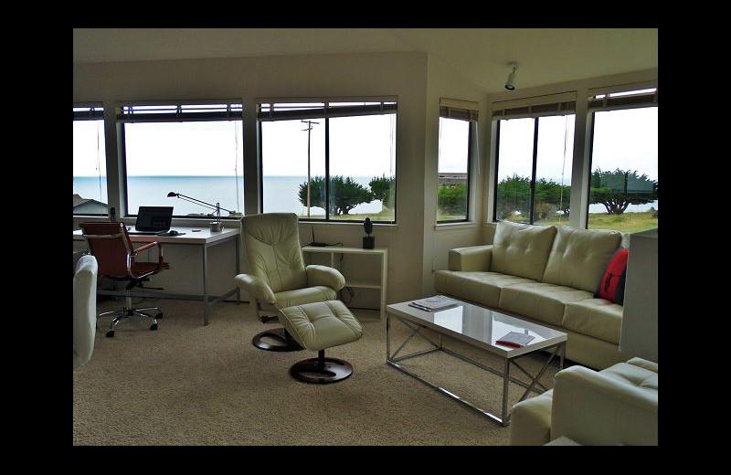 Rental living room at Irish Beach Rental Agency.