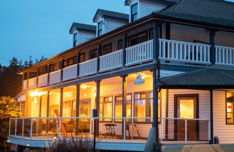 Exterior view of Lund Resort at Klah ah men.