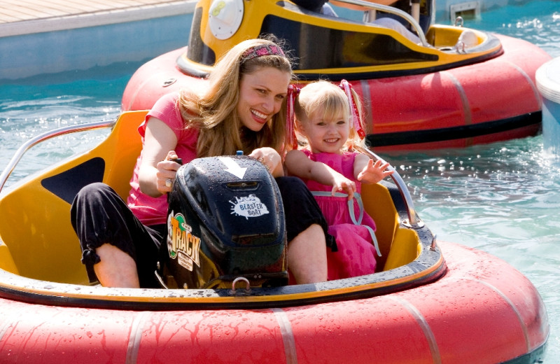 Bumper boats at Shoreline Towers.