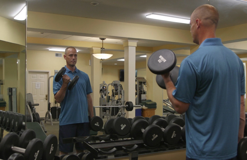 Gym at The Meadowmere Resort.