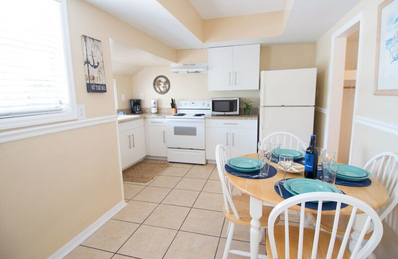 Guest kitchen at Anna Maria Island Inn.