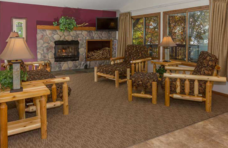 Guest living room at Cragun's Resort and Hotel on Gull Lake.