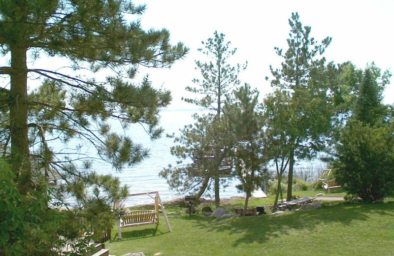 View of lake at Norway Point Resort.