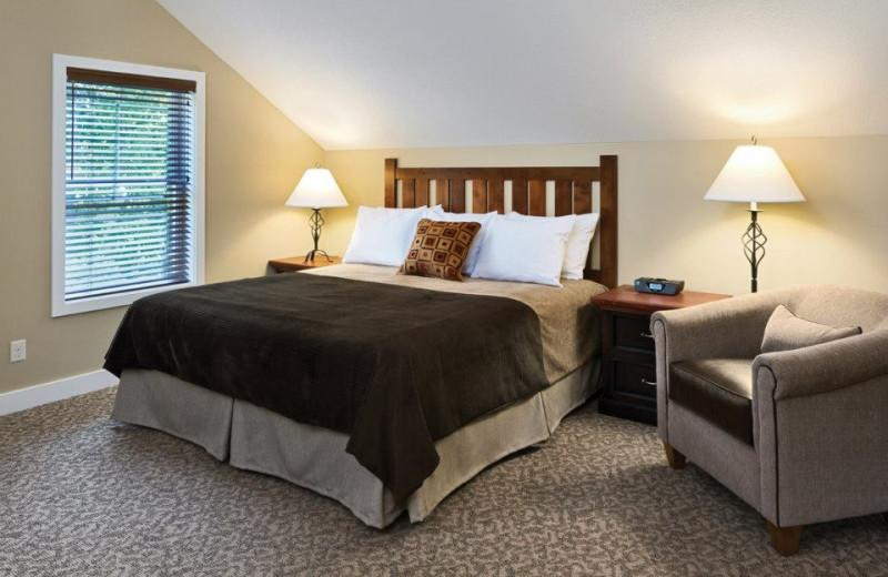 Cottage guest room at Arrowwood Resort.