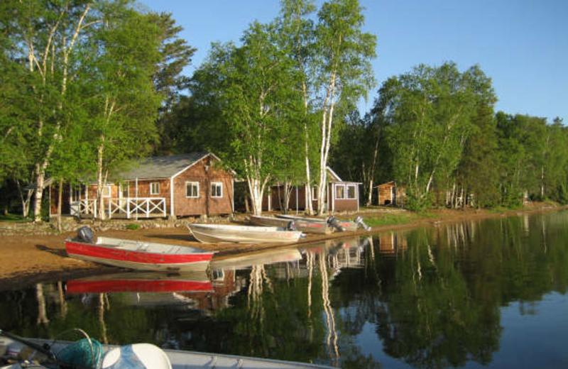 Lakeside cabin at Sandy Beach Lodge.