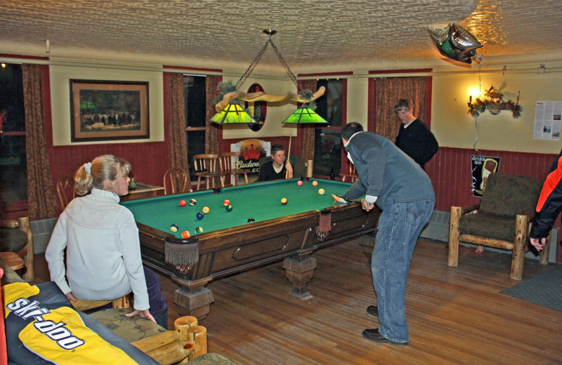 Rec room at The Woods Inn.
