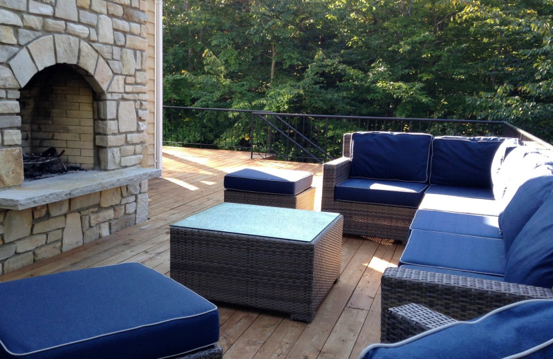 Rental patio at Lundquist Realty Vacation Rentals.