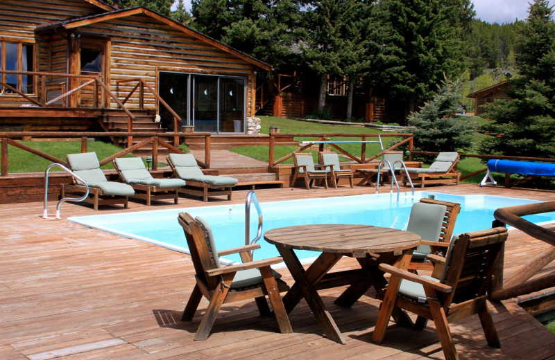 Outdoor pool at Paradise Guest Ranch.