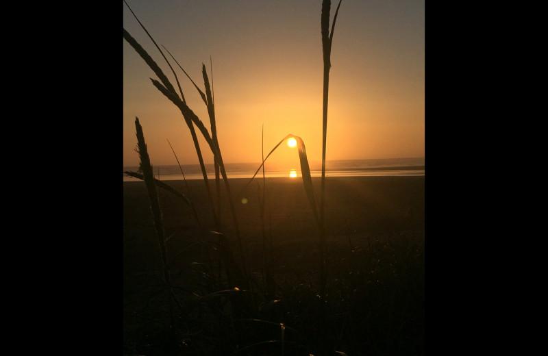 Sunset at Sandpiper Beach Resort.