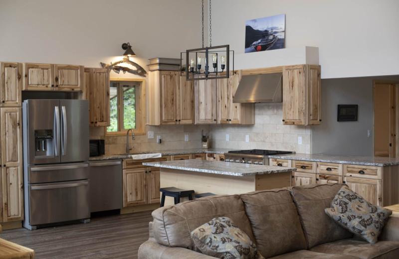 Kitchen at Screamin' Reels Lodge.