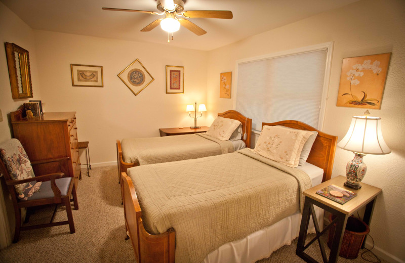 Rental bedroom at Boone Cabin Rentals.
