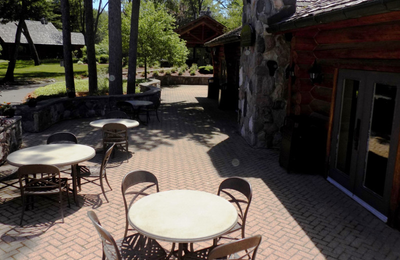 Patio at Garland Lodge and Resort.
