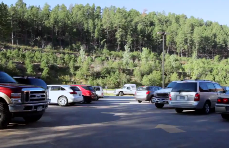 Parking lot at Rushmore Express Inn & Family Suites.