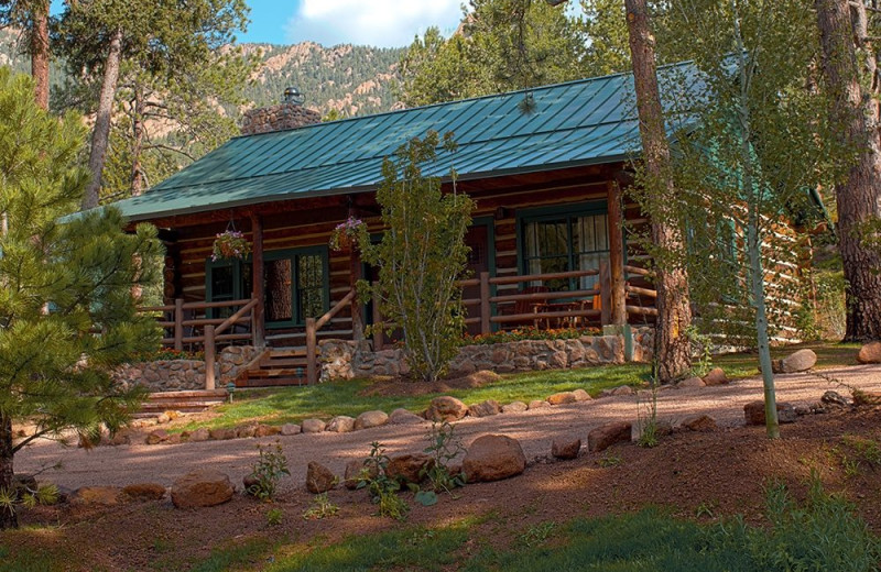 Cabin exterior at The Ranch at Emerald Valley.