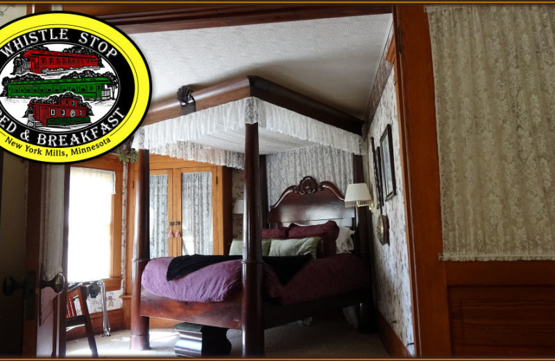 Guest room at Whistle Stop Inn Bed & Breakfast.