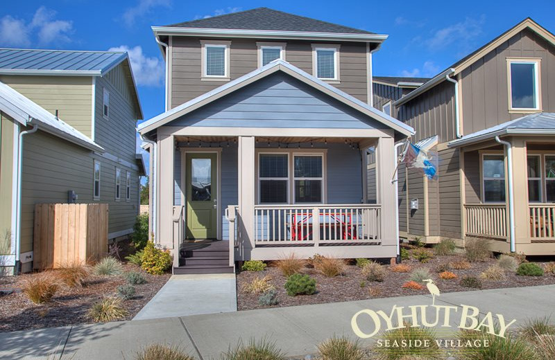Rental exterior at Oyhut Bay Seaside Village.