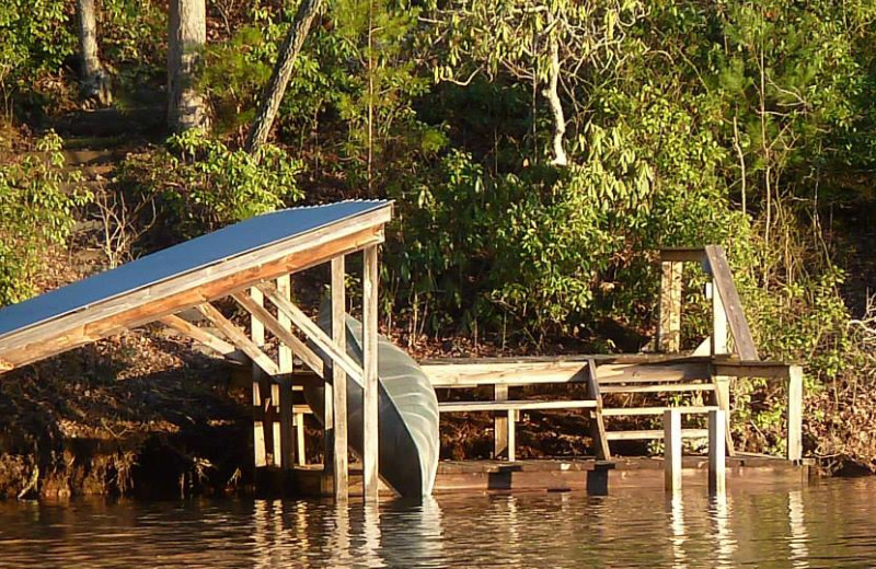 Dock at Mountain Rest Cabins and Campground.