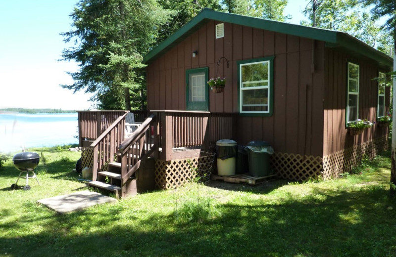 Cabin exterior at Moose Track Adventures Resort & Outfitter.