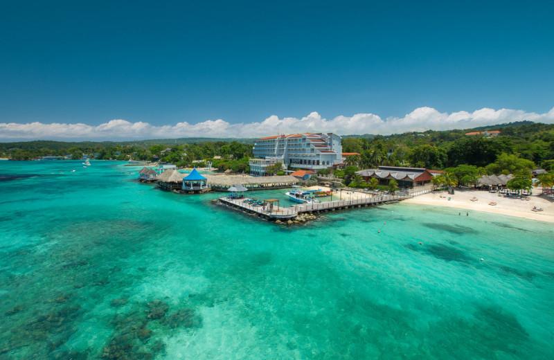 Exterior view of Sandals Grande Ocho Rios Beach & Villa Resort.