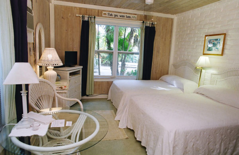 Guest room at Captain Pip's Marina & Hideaway.