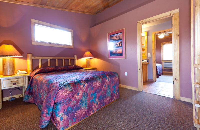 Guest room at Red Cliffs Lodge.