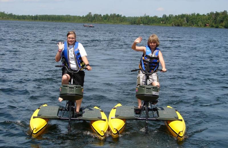Water bikes at Cedar Point Resort.