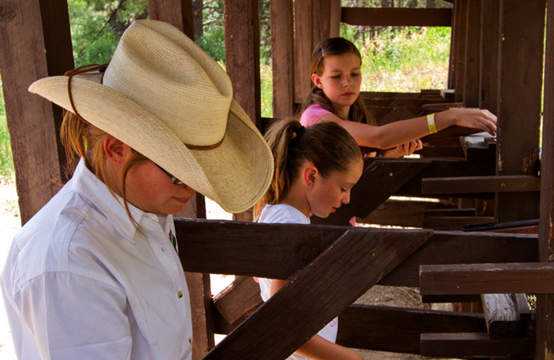 Rifle lessons at Colorado Trails Ranch.