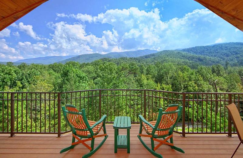 Cabin deck at Elk Springs Resort.