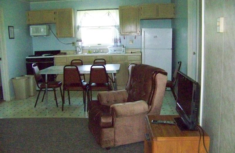 Cottage interior at Fieldstone Farm.