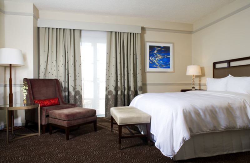 Guest room at The Westin Colonnade, Coral Gables.