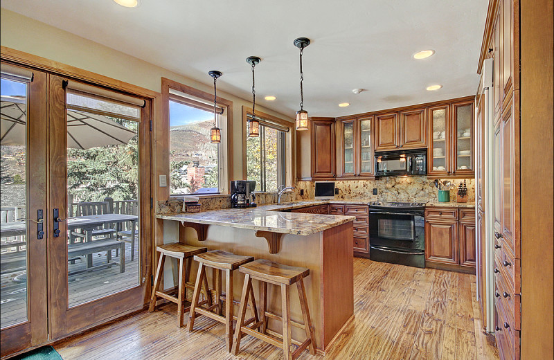 Rental kitchen at Vail Rentals by Owner.