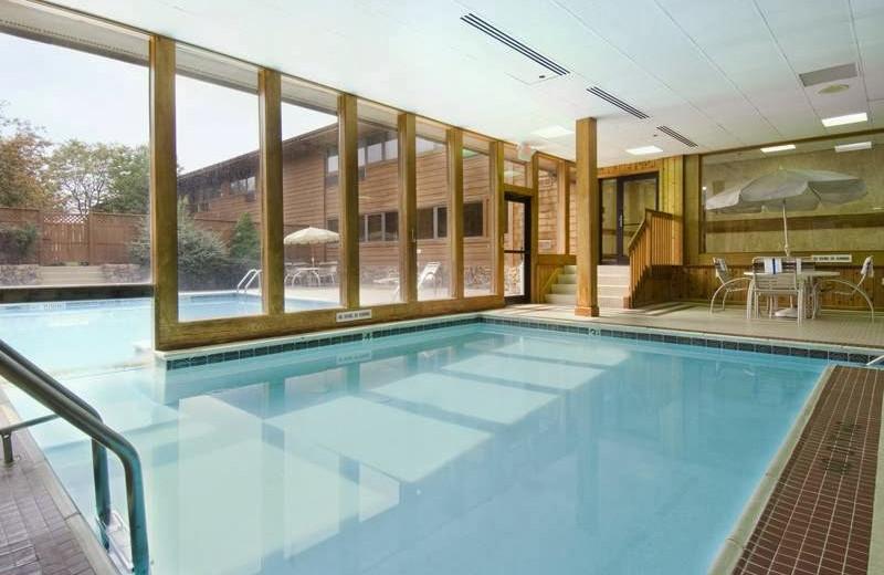 Pool view at Carlton Lodge.
