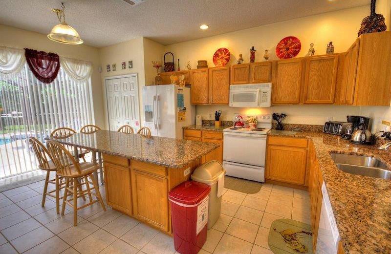 Vacation rental kitchen at Elite Vacation Homes.