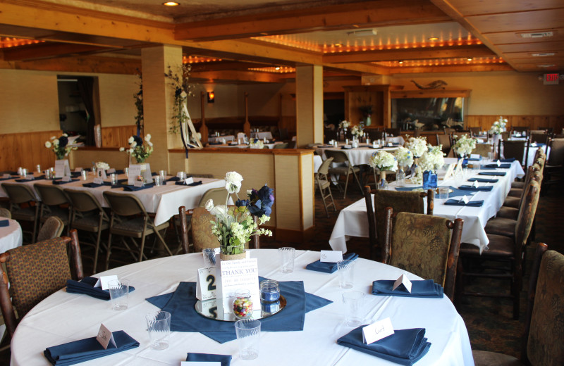 Wedding reception at Big Sandy Lodge & Resort.