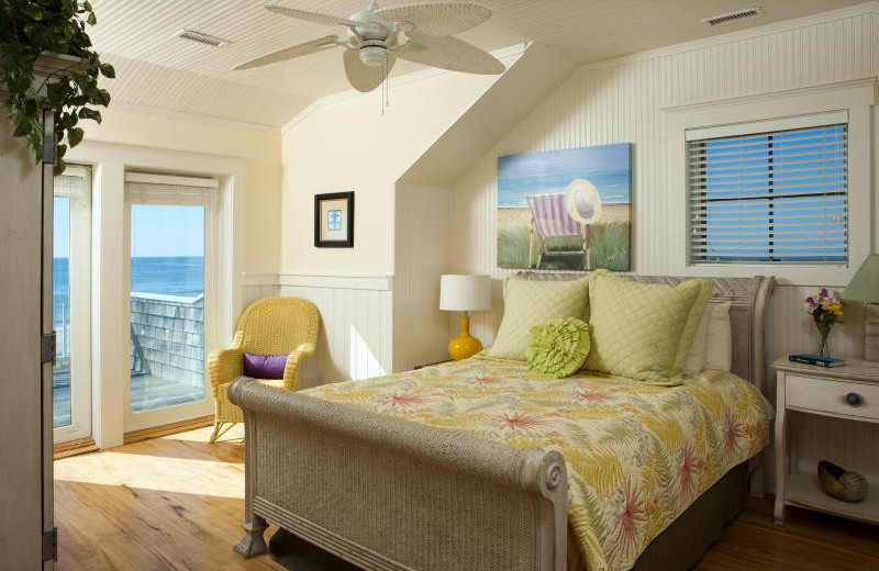 Guest bedroom at Bald Head Island Limited.