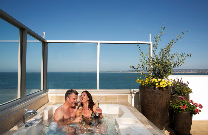 Hot tub at Monterey Plaza Hotel & Spa.