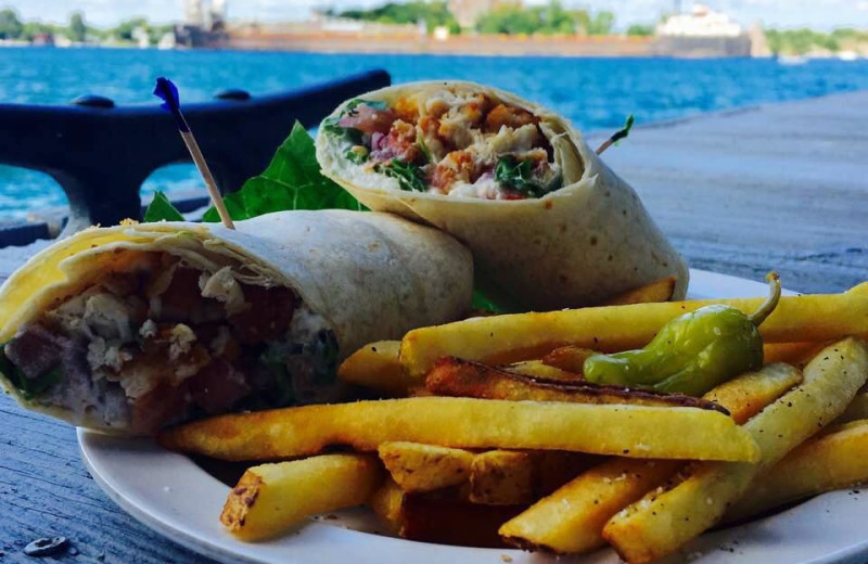 Wrap and fries at Bonnie Castle Resort.