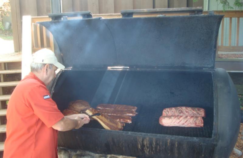 BBQ at Gunflint Lodge.