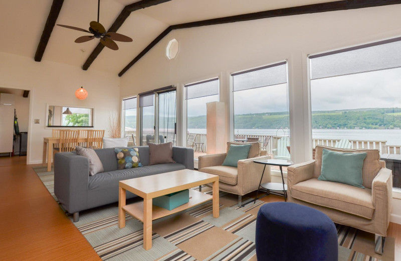 Rental living room at Finger Lakes Premiere Properties.